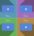 Flags Somalia Set of colors flat design and long vector image