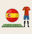 football spain sport wear vector image vector image