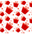 gift box red present packs christmas or birthday vector image vector image