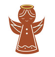 gingerbread angel christmas cookie new year vector image vector image