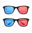 Glasses for Cinema Set vector image