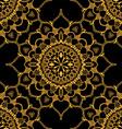 Golden Mandala Patterned Background vector image