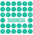 Hand drawn icons set of business vector image