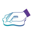 hand wiping with cloth vector image