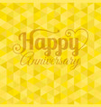 happy anniversary letter vector image vector image
