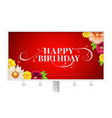 happy birthday floral lettering design on vector image vector image