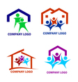 Happy family in a new house logo vector image vector image