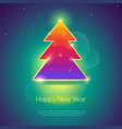 holiday cover for happy new year events golden vector image