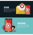 infographic hacking virus system design vector image vector image