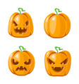 jack o lantern halloween pumpkin decoration scary vector image vector image