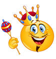 King emoticon vector | Price: 1 Credit (USD $1)