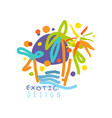 logo for travel agency with exotic sightseeing vector image vector image
