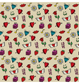 Love seamless pattern Valentines day background vector image vector image