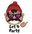 man is feeling ready for party on white vector image