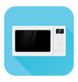 microwave oven flat design blue icon vector image vector image