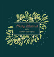 mistletoe greeting card vector image vector image