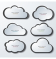 modern clouds banners set vector image vector image