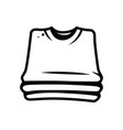 monochrome stack of shirts concept vector image vector image