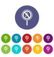 No pedestrian sign set icons vector image