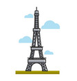 paris eiffel tower landmark travel to france vector image