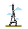 paris eiffel tower landmark travel to france vector image vector image