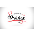prague welcome to word text with handwritten font vector image