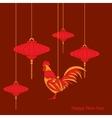 raditional Chinese lantern vector image