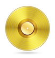 realistic golden records disc vector image vector image