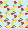 seamless background with cherries from geometric s vector image vector image