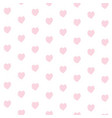 seamless pattern from big abstract pink heart vector image