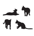 set cats silhouettes isolated on a white vector image vector image