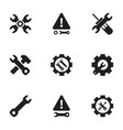 Set of 9 editable repair icons includes symbols