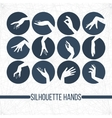 Set of silhouette icons displaying elegant vector image