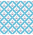 ship anchor in the circle marine seamless pattern vector image vector image
