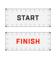 starting and finishing lines vector image