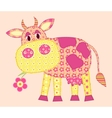 stitched cow vector image vector image