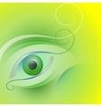 stylized eye vector image