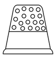 Thimble icon outline style vector image vector image