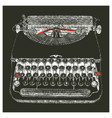typewriter typed negative vector image