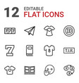 typography icons vector image vector image