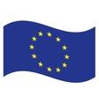 flag EU vector image