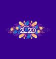 2020 calendar abstraction vector image vector image