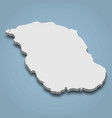 3d isometric map biliran is an island in vector image vector image