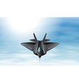 A gray fighter jet in the sky vector image vector image