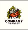 awesome vintage vegetable design logo vector image