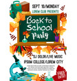 back to school autumn party poster