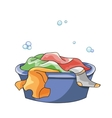 Basin For Clothes vector image
