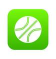 basketball ball icon digital green vector image vector image