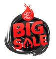 big sale banner template hot price concept spiral vector image