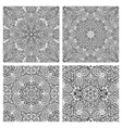 Black and white abstract seamless patterns vector image vector image